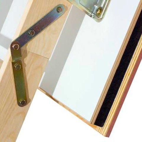 wooden folding loft ladder airtight