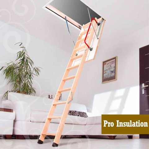 loft attic wooden stairs ladder dublin & Attic stairs | Loft ladder | Stira folding stairs | Dublin