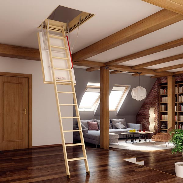 thermo folding attic stairs